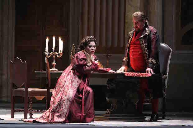 Hui He as Floria Tosca. Teatro Massimo di Palermo.