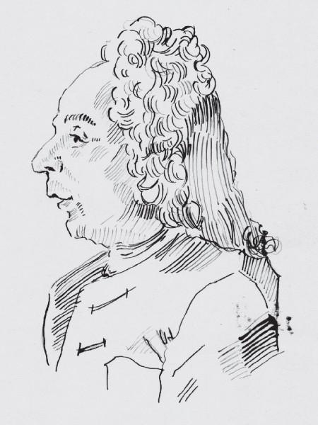 Giovanni Bononcinii, drawn by Michael Cera