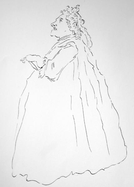 Faustina Bordoni, drawn by Michael Cera