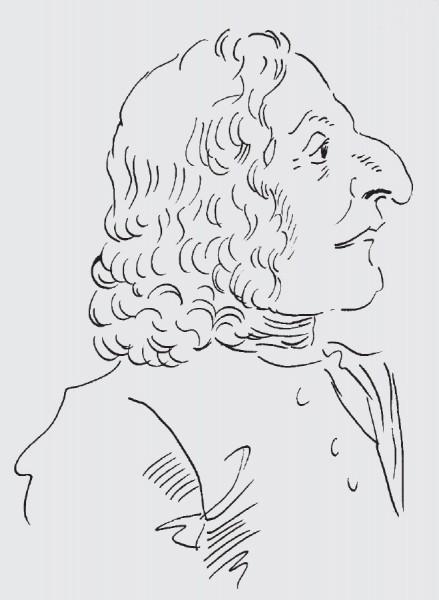 Antonio Vivaldi, drawn by Michael Cera, after Ghezzi.