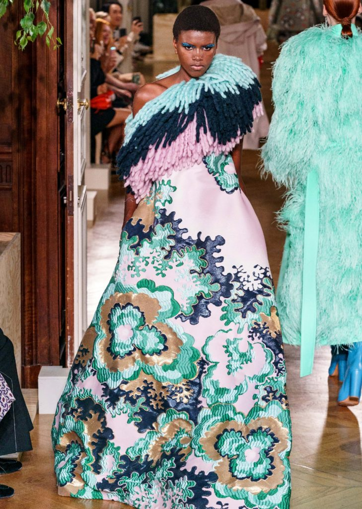 Yorgelis Marte in Valentino, fall 2019 couturePhoto: Vogue Runway Archive