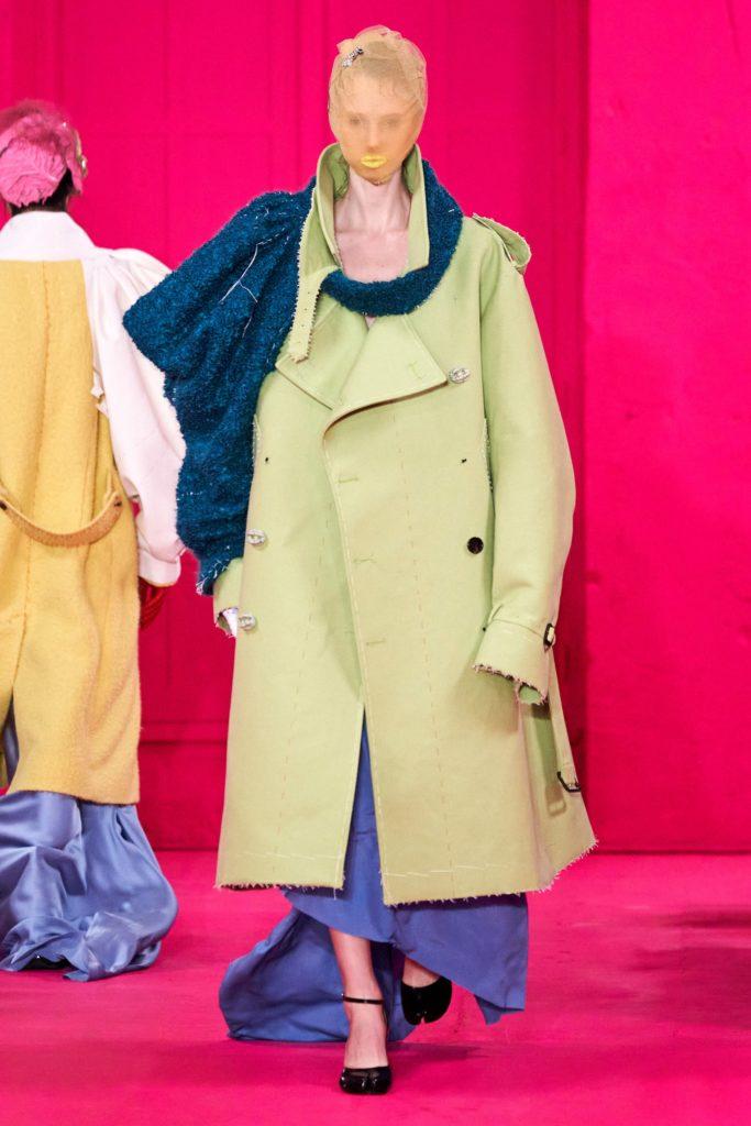 Lotka Lakwijk in Maison Margiela, spring 2020 couture Photo: Alessandro Lucioni / Gorunway.com