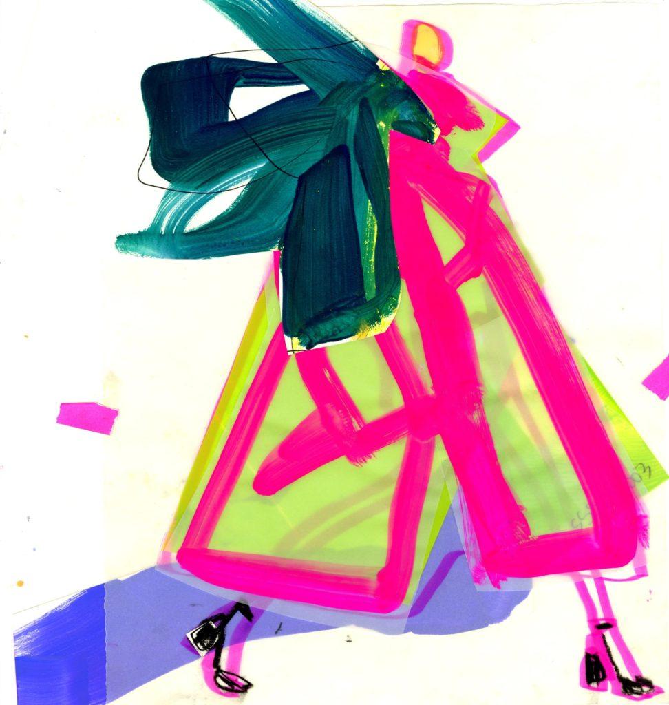 Maison Margiela, spring 2020 couture Illustration by Jacky Marshall