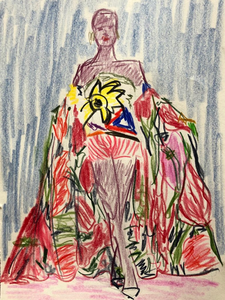 Christian Lacroix, spring 1988 couture Illustration by Mary Barendregt