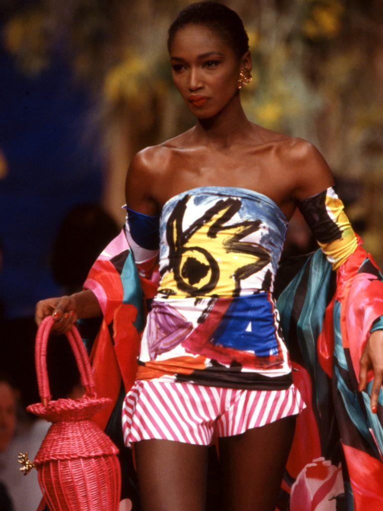 Katoucha Niane in Christian Lacroix, spring 1988 couture Photo: Daniel Simon / Getty Images