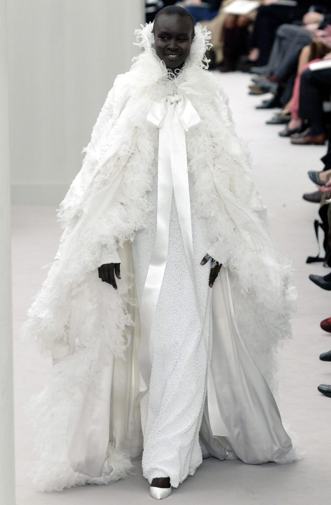 Alek Wek in Chanel, spring 2004 couture Photo: Marcio Madeira