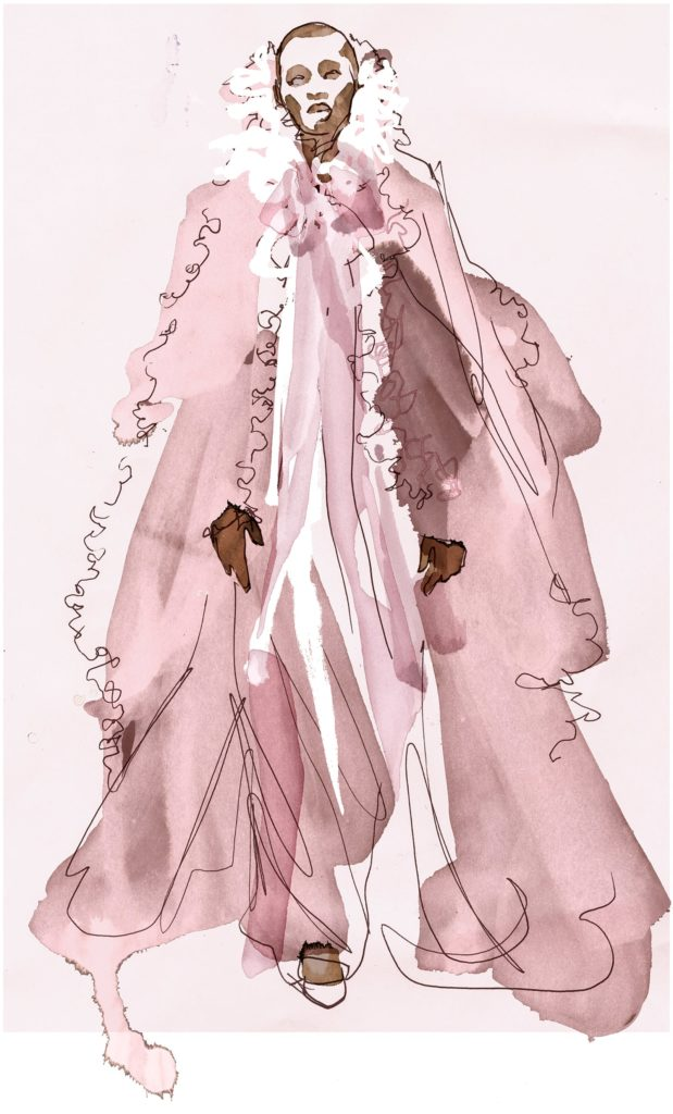 Chanel, spring 2004 couture Illustrated by Sara Singh